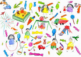 Cartoon People And Funny Toy Collection Children Drawing Object On Paper Hand Drawn Art Picture Photo By Soleg