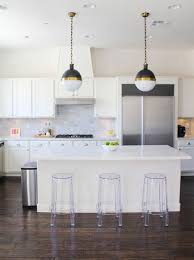 Modern White Kitchens With Dark Wood Floors Room Image And