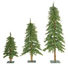 3 Pack Apline Christmas Trees Menards