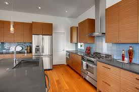 Light Blue Subway Tile by Contemporary Kitchen With Laminate Floors By Isola Homes Zillow