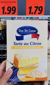lidl duc de coeur tarte au citron 535 gramm naschkater