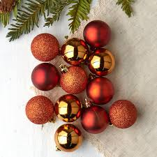Item PL12OR Complete Your Holiday Displays With These Miniature Orange Christmas Ball Ornaments