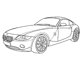 Racing BMW Car Pictures To Color Printable Coloring Pages For Kids