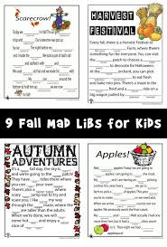 Halloween Mad Libs Pdf by Fall Mad Libs For Kids Woo Jr Kids Activities