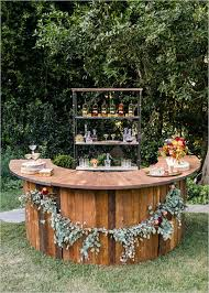 20 Creative Wedding Food Bar Ideas For Your Big Day Rustic Outdoor