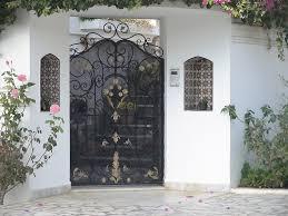 cuisine style de porte exterieure en fer forgã tunis maisons