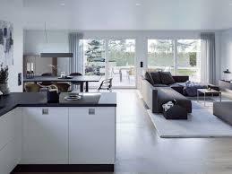 bungalow haus innen modern offene küche mit wohnzimmer