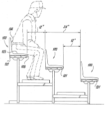Custom Stadium Chairs For Bleachers by Patent Us20060108843 Bleacher Seat Google Patents