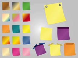 telecharger un bloc note pour le bureau colorful post it fournitures de bureau télécharger des vecteurs