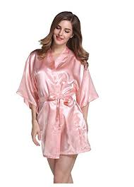 robe de chambre satin satin de soie de mariage mariée demoiselle d honneur robe floral