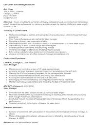 Skills Qualifications Resume Examples Samples Call Center Customer