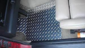bmw 3 series e30 aluminum floor mats real metal custom fit front