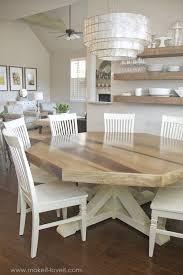DIY Octagon Dining Room Table with a farmhouse base