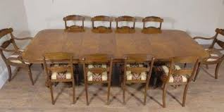 Regency Walnut Dining Table 10 William IV Chairs Set For Sale