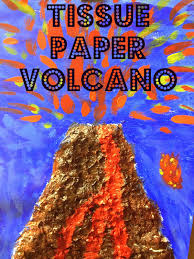 Volcanos From Tissue Paper