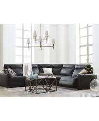 Chateau Dax Leather Sofa Macys by Marzia Leather Power Reclining Sectional U0026 Sofa Collection