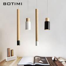botimi nordic designer pendant lights wooden dining light modern