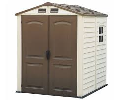4x6 Outdoor Storage Shed by Duramax 4x6 Storepro Vinyl Storage Shed Kit W Floor 30621
