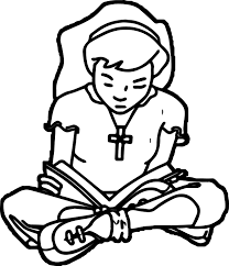 Kids Bible Reading Coloring Page