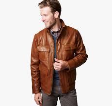 leather four pocket jacket johnston u0026 murphy