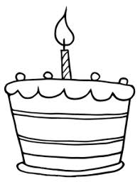 Free Birthday Cake Clip Art Image Baby s First Birthday Cake Coloring Page