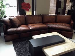 Brown Leather Sectional Sofa Or Table Decor Ideas As Well Rustic