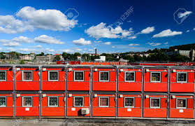 100 Cargo Houses Container In Oslo Norway Stock Photo Picture And