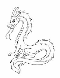Adult Simple Chinese Dragon Coloring Pages Printable Mask Free
