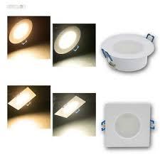 led feuchtraum einbaustrahler rund eckig einbauleuchte badezimmer spot leuchte