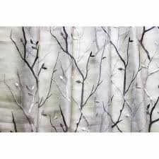 Gold And White Sheer Curtains by Purple Wine N Lavender Trees Embroidered Sheer Curtain Fabric