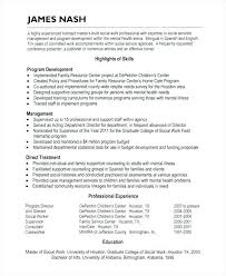 Social Worker Sample Resume Foster Care Mental Health