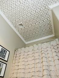 30 Awesome Diy Stenciled Ceilings That Exude Luxury (WITH PICTURES ... Bathroom Tile Idea Use The Same On Floors And Walls Great Blue Lighting False Ceiling Designs With Fan Creamy 30 Awesome Diy Stenciled Ceilings That Exude Luxury With Pictures Best 50 Pop Design For Roof Zacharykristen Curtains Ideas Coolwer Curtain Small Bold For Bathrooms Decor Home Pictures Depot Panels Trim Lights 3203 25 Tile Ideas Small Bathrooms And How To Remove Mold Anti Attic Rooms 21 Ways To Capitalize On Your Top Floor Bob Vila Inspiring 20 Basement Budget Check