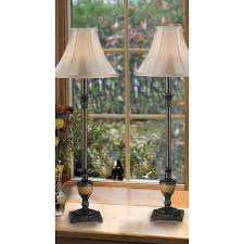 Glass Candlestick Buffet Lamps by Kenroy Home 30944 Emily Buffet Lamp 2 Pack Crackle Bronze