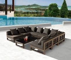 Outdoor Sectional Sofa Set by Amber Modern Outdoor Shape Large Sectional Sofa For Gallery With U