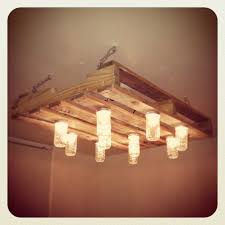 Pallet And Mason Jar Chandelier Diy