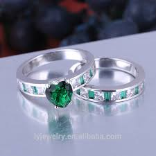 Stone Jewelry 925 Sterling Silver Green Heart Stone Ring Green