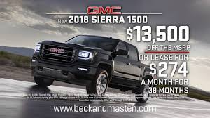 Beck & Masten North Black Friday All Month Long Event - Spot 5 - YouTube 2018 New Gmc Sierra 1500 4wd Double Cab Standard Box Sle At Banks 8008 Marvin D Love Freeway Dallas Tx 75237 Us Is A Chevrolet Moss Bros Buick Moreno Valley Dealer And New Folsom 2500hd Rebates Incentives 2016 For Sale Mauricie Toyota Shawinigan Amazing Surgenor National Leasing Used Dealership In Ottawa On K1k 3b1 Regular Long Chevy Lee Truck Center Auburn Me An Augusta Lewiston Portland Nampa D480091 Kendall The Interior Trucks Pinterest Truck Review Ratings Edmunds