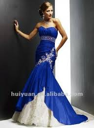 royal blue and white wedding dresses Life to her