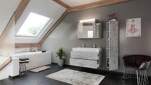 posseik badezimmer set line 100 cm 3 tlg mit spiegelschrank beton