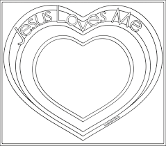 Jesus Valentine Coloring Pages Heart Love Me Page Year Old Loves Full Size