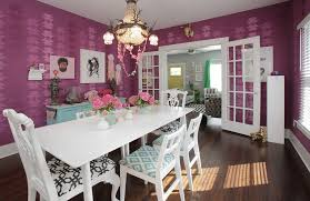 Shabby Chic Dining Room Chair Cushions by Stenciling Walls Ideas Dining Room Shabby Chic Style With Flea