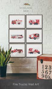 100 Fire Truck Wall Art Print Truck Birthday Truck Print