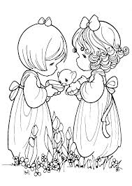 Precious Moments Coloring Pages Friendship