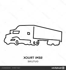 Stock Illustration Semi Truck Outline On White   ORANGIAUSA Fire Truck Outline 0 And Coloring Pages Clipart Line Drawing Pencil And In Color Truck Semi Rear View Drawing Peterbilt Coloring Page Icon Vector Isolated Delivery Stock Royalty Trailer Pages At 10 Mapleton Nurseries Template On White Free Printable Of Cars Trucks With Pickup Encode To Base64 Simple Icons Download Art Clipart Black Awesome At