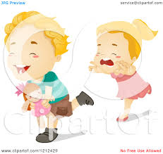 Girl Stealing Food Clipart 1