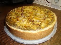 mohn birnen torte mit trauben