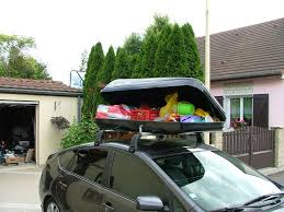 coffre toit de voiture fixation coffre de toit sur barres de toit ou galerie de toit
