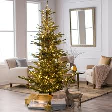 45 Pre Lit Christmas Tree by 7 5 Ft Delicate Pine Slim Pre Lit Christmas Tree Hayneedle