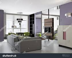 100 Interior Design For Small Flat 3d Bright Stock Illustration