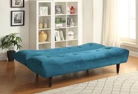 Tufted Velvet Sofa Bed by Teal Velvet Sofa Bed With Solid Wood Legs U0026 Tufted Back
